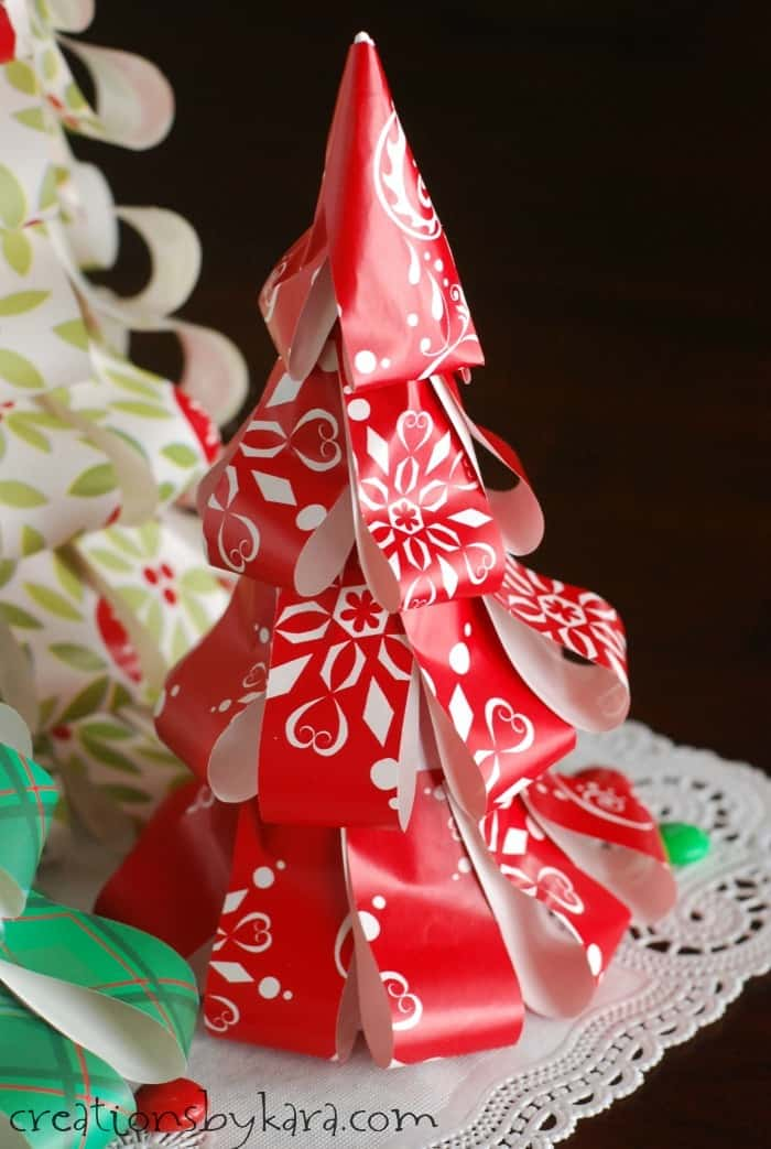 How To Make Wrapping Paper Christmas Trees