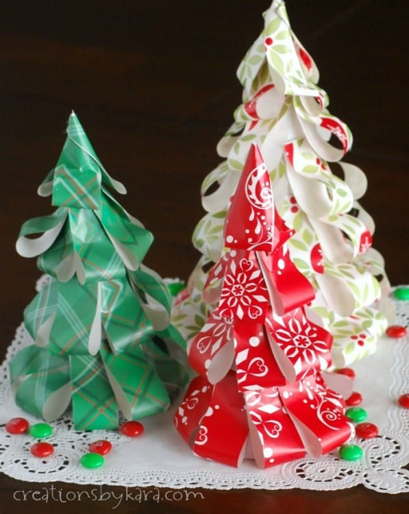 wrapping paper christmas trees these simple trees can be made in any color
