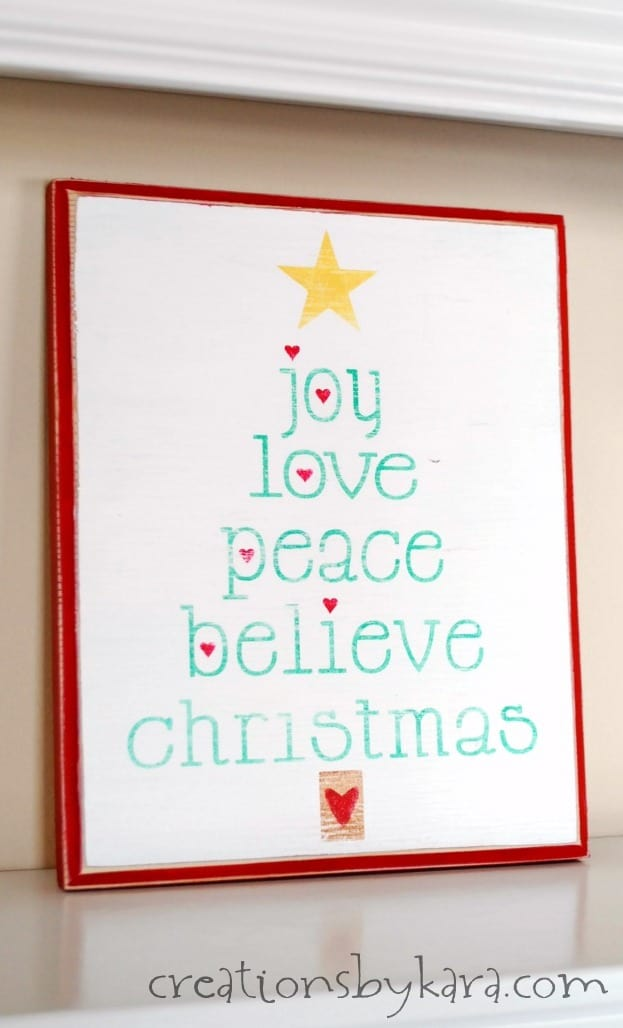 Christmas Wood Sign With Printable