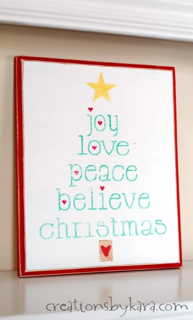 Christmas Wood Sign With Printable