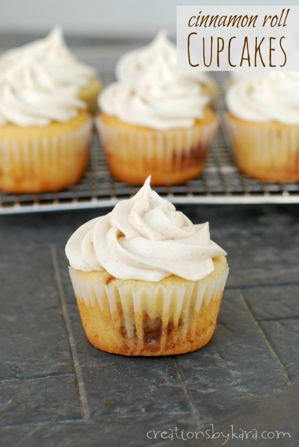 Recipe for Cinnamon Roll Cupcakes with Cinnamon Cream Cheese Frosting