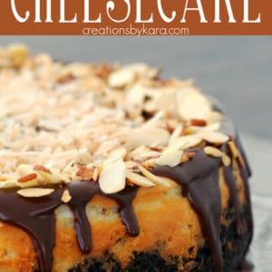 Coconut Almond Cheesecake Pinterest Pin