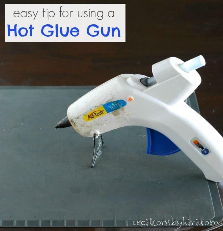 Trick For Using Hot Glue Guns
