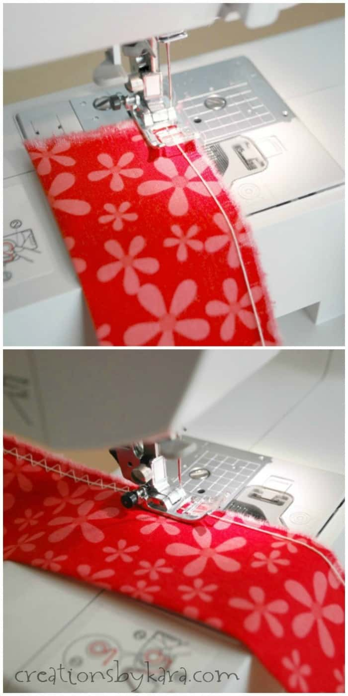 Sewing tip for sewing ruffles with sewing machine