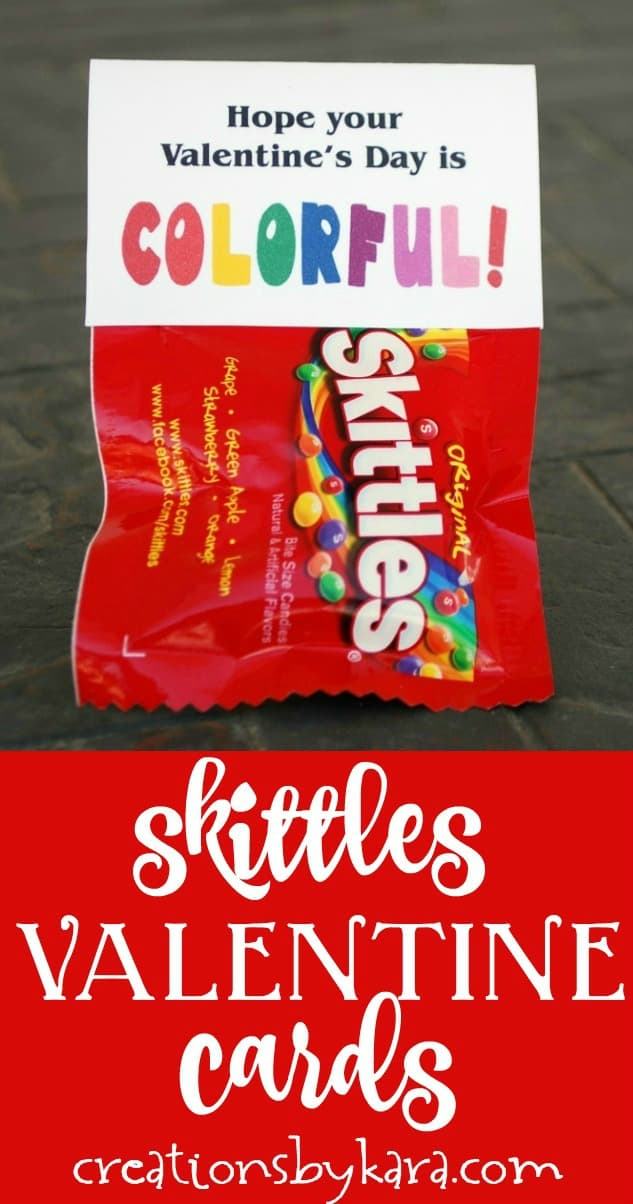 skittles valentines day cards collage