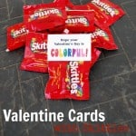 Printable Valentine Cards–Skittles