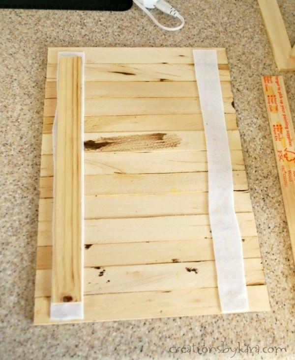 framed rustic wood sign - Diy Wood Frame