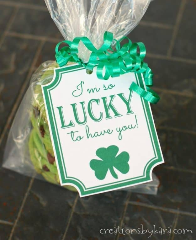 I'm So Lucky - St. Patricks Day gift tags. Free printable gift tags for St. Patricks Day.