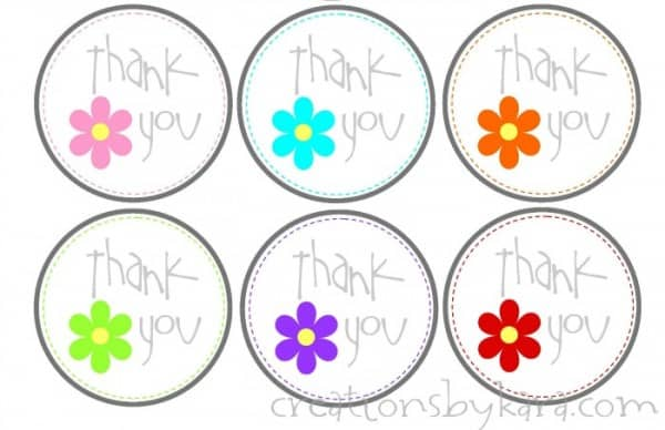 Free printable thank you tags for Flower tags template free