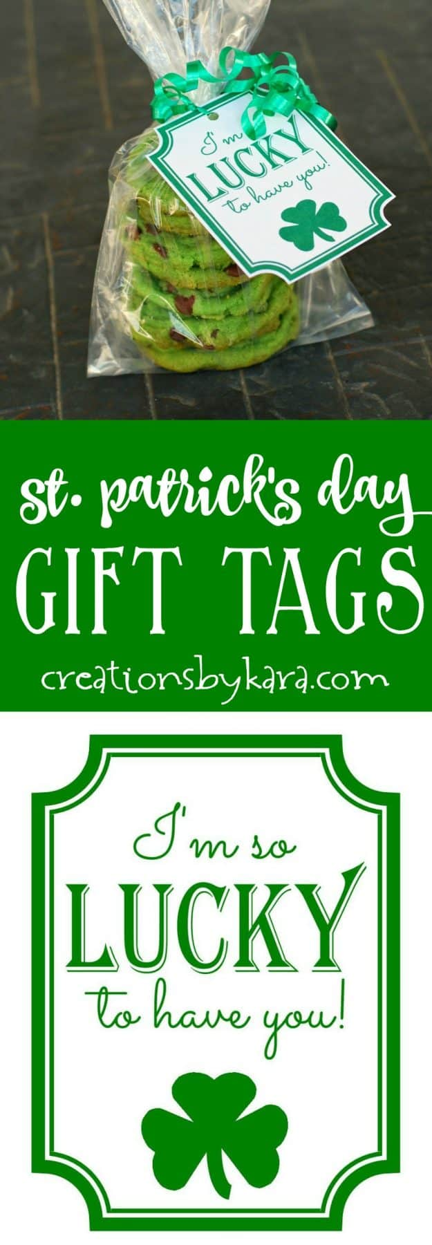 St. Patrick's Day Gift Tags - free printable gift tags for St. Patricks Day.