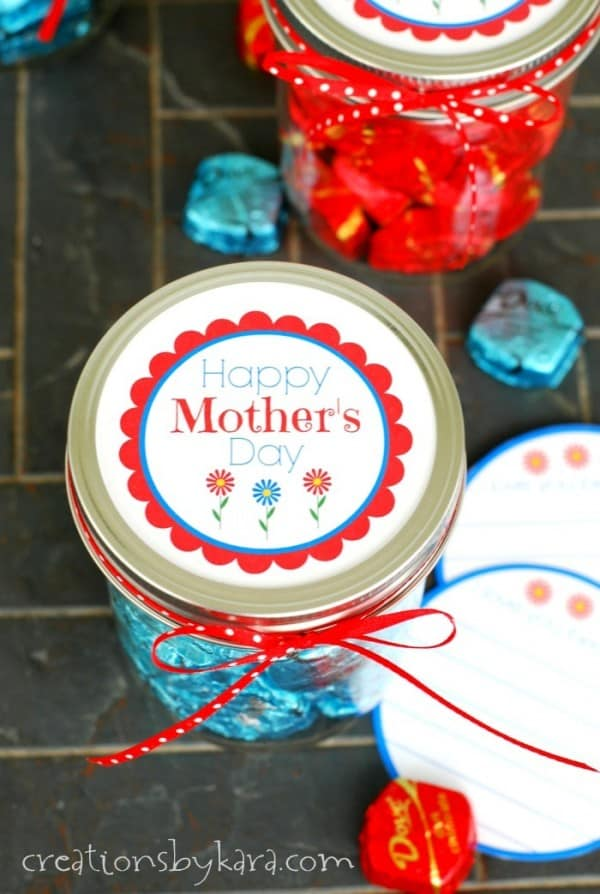 Mother's Day gift with Dove chocolates