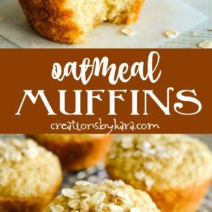 buttermilk oatmeal muffins recipe collage