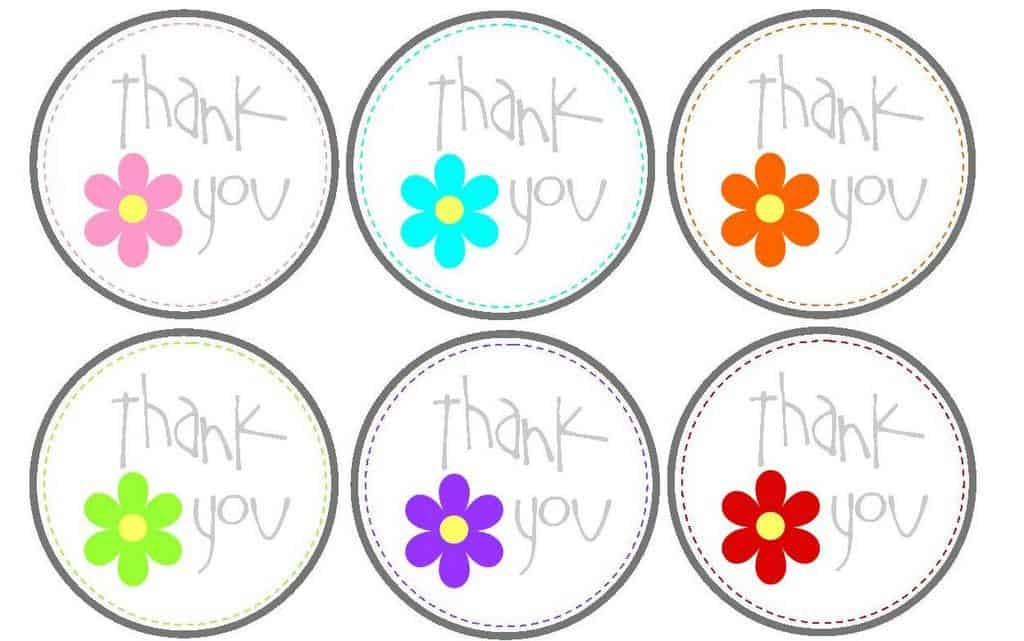 photo about Thank You Printable Tag named No cost printable thank on your own tags