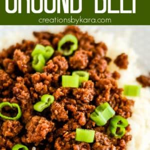 korean ground beef and rice pinterest pin