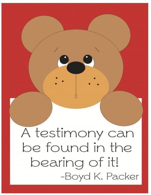 free-printable, lds-testimony
