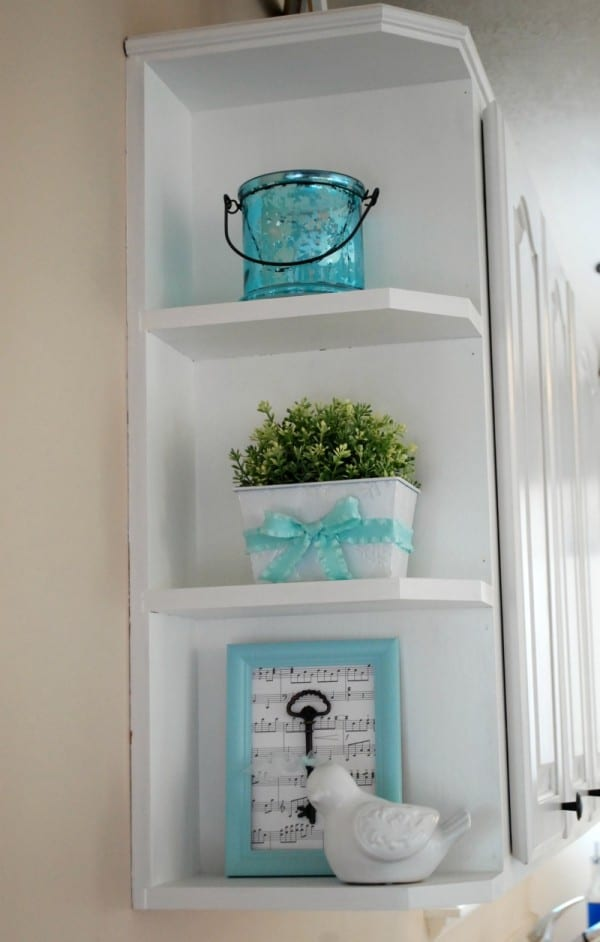 diy white kitchen makeover reveal,Aqua Kitchen Decor,Kitchen decorating