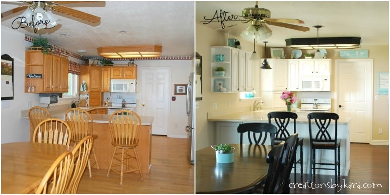 My white Kitchen Before and After