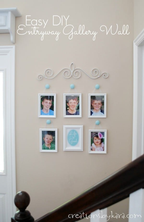 Simple Entry Gallery Wall