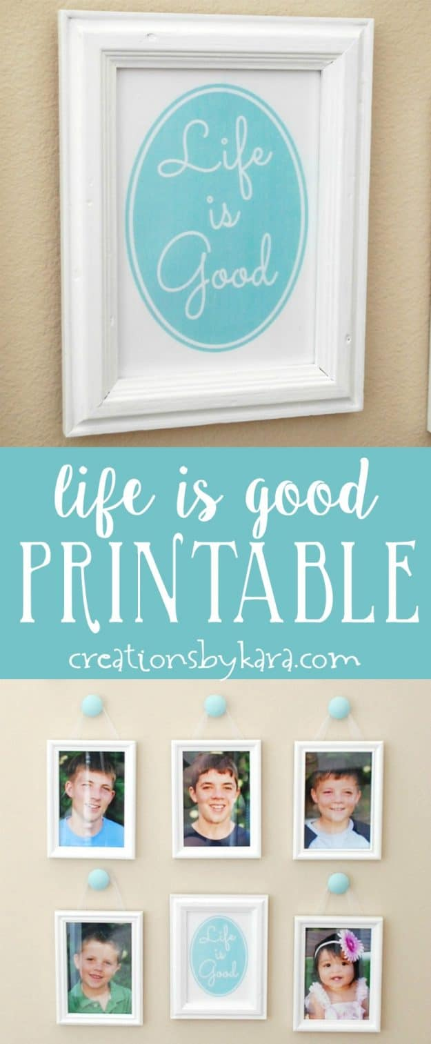 Life is Good free printable art