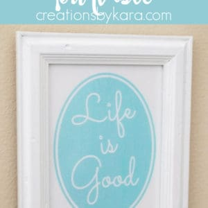 life is good printable art