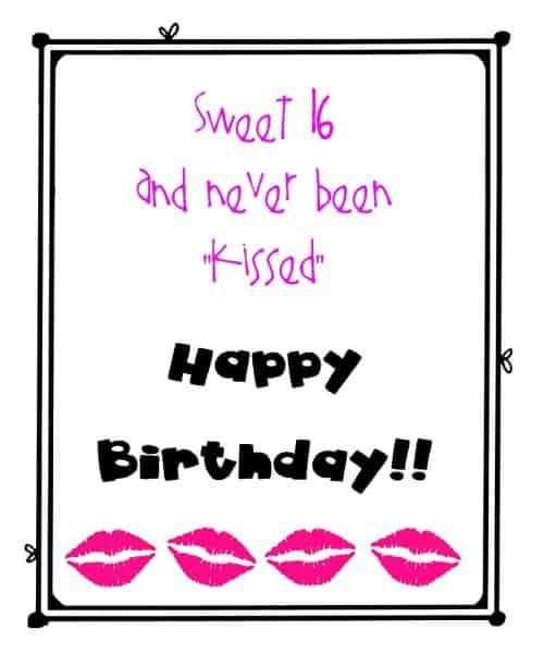 Sweet 16 Printable Birthday Gift Tags