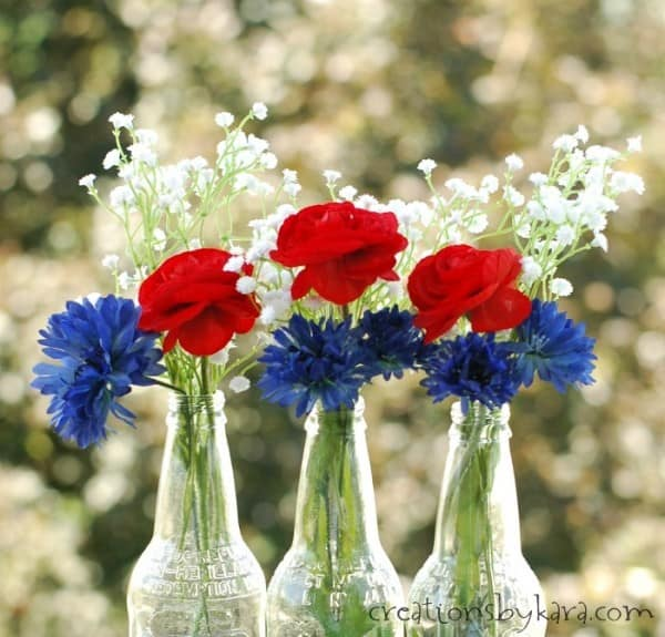 Patriotic Flower Centerpiece