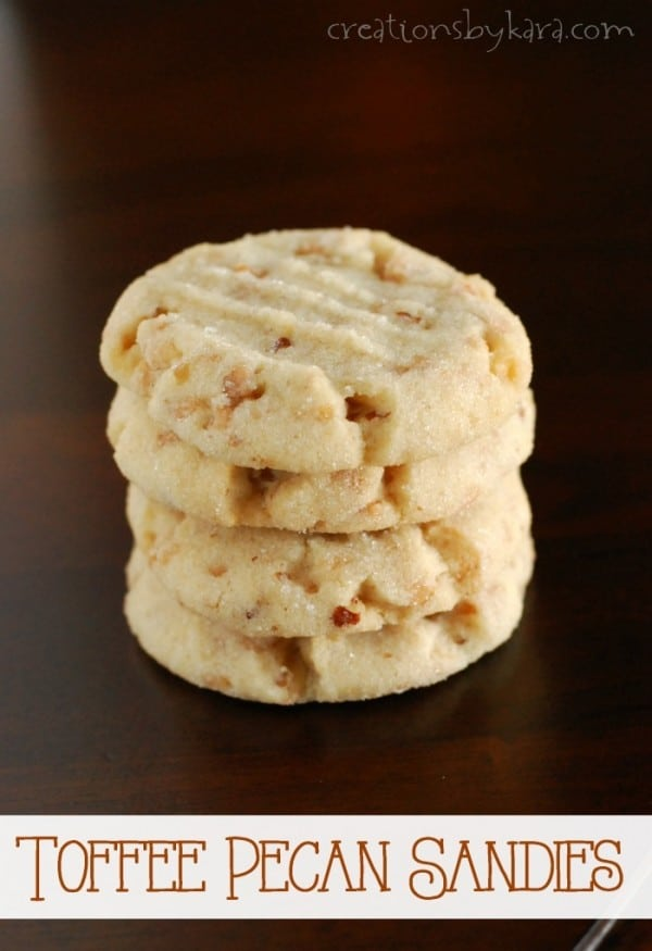 Pecan Sandies with Toffee