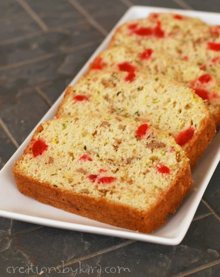 Recipe for Cherry Nut Zucchini Bread