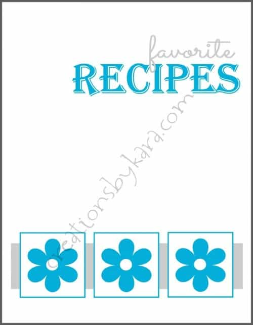 photo relating to Cookbook Covers Printable Free named Totally free printable cookbook addresses