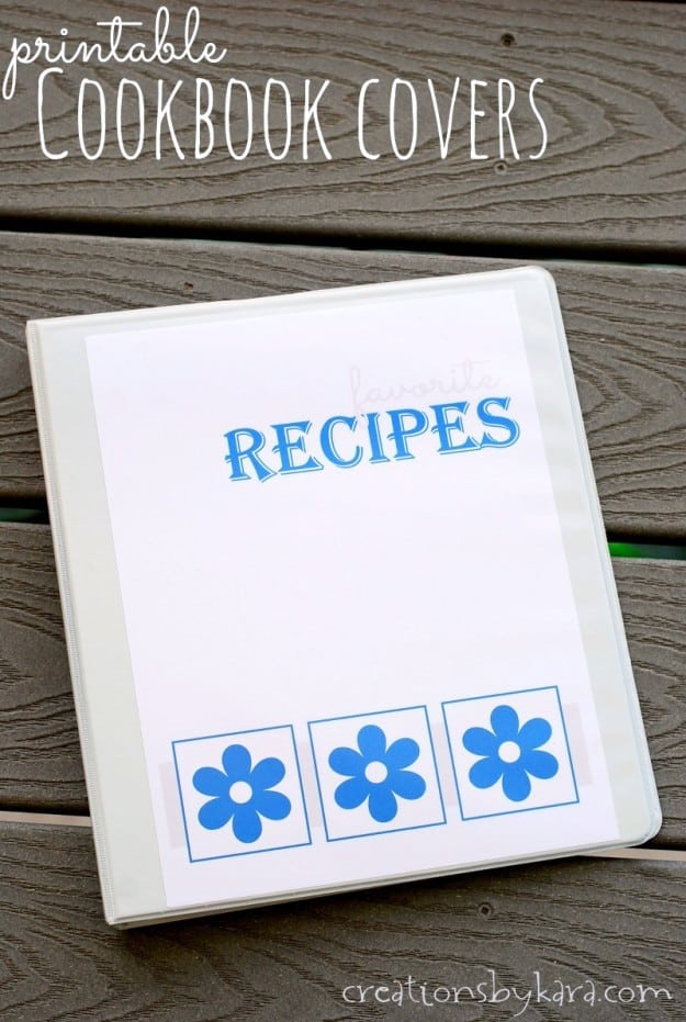 Free printable Recipe Book Covers- makes a great bridal shower or graduation gift!