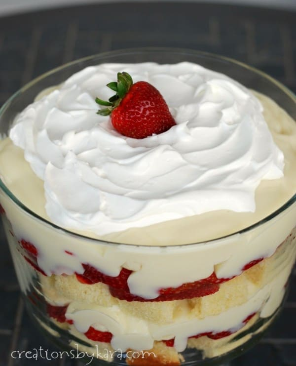 Banana Trifle with Stawberries