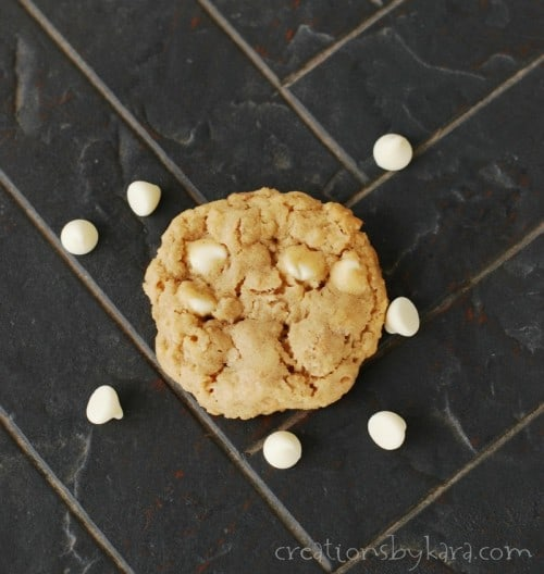 Oatmeal Peanut Butter Cookies with White Chips