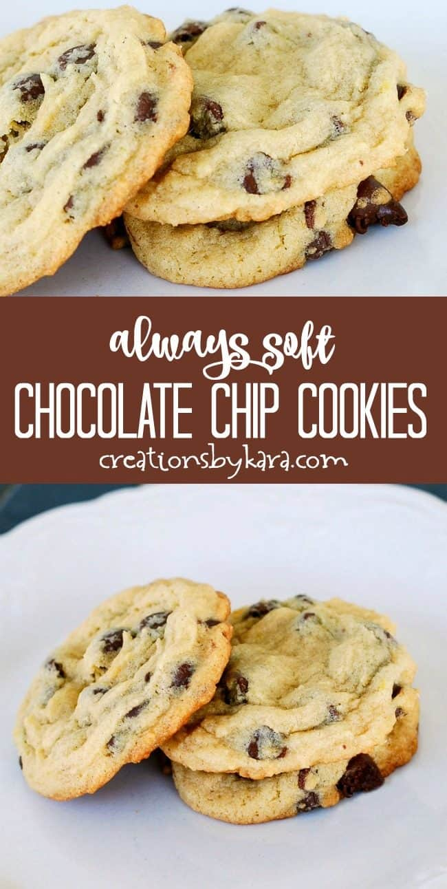 always soft chocolate chip cookies recipe collage