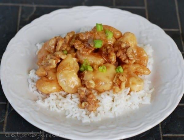 Recipe for Honey Glazed Walnut Shrimp