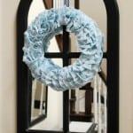 How to Make a Ruffled Fabric Wreath