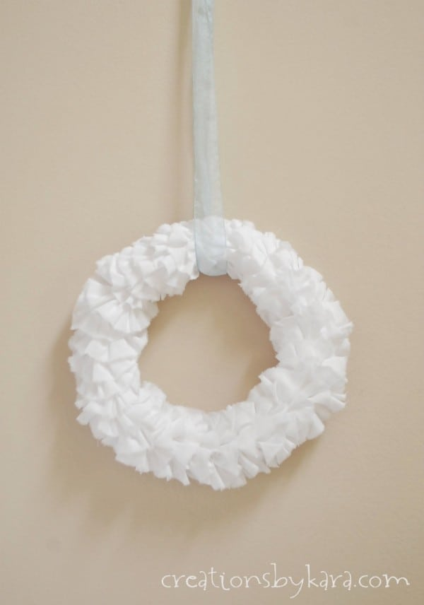 How To Make a Fabric Wreath with ruffles