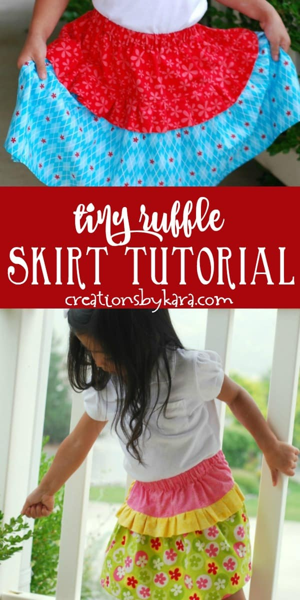 tiny ruffle skirt tutorial photo collage