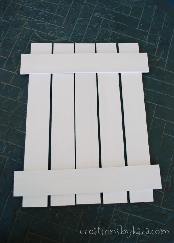 White Picket Fence Sign Tutorial