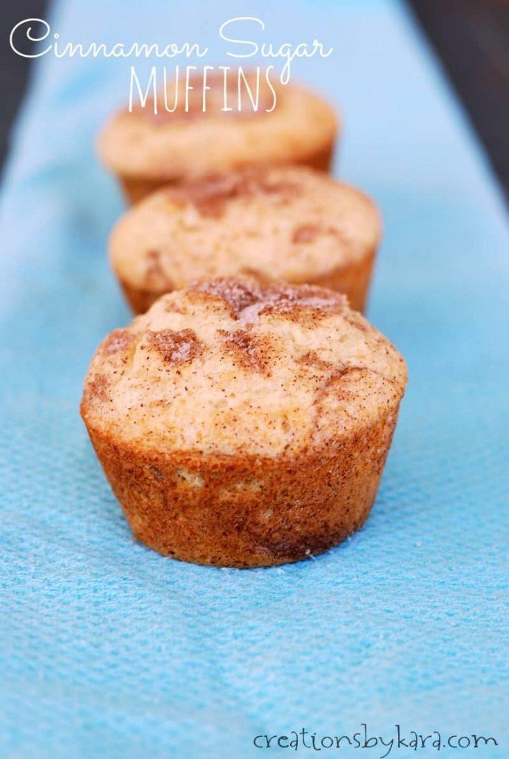 Fluffy Cinnamon Sugar Muffins