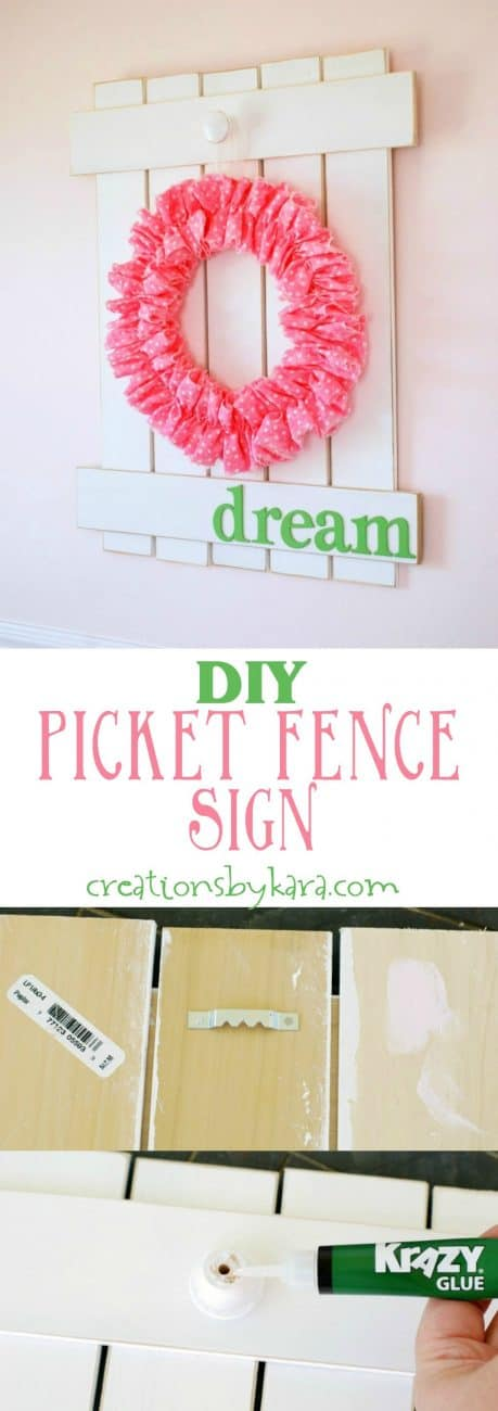 Diy Picket Fence Sign