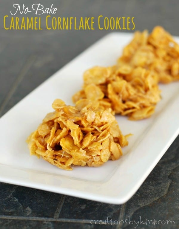 Six Ingredient Easy No-Bake Cornflake Cookies. These come together in minutes, and everyone loves them!