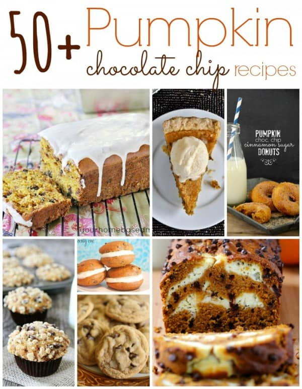 Pumpkin Chocolate Chip Recipes collage