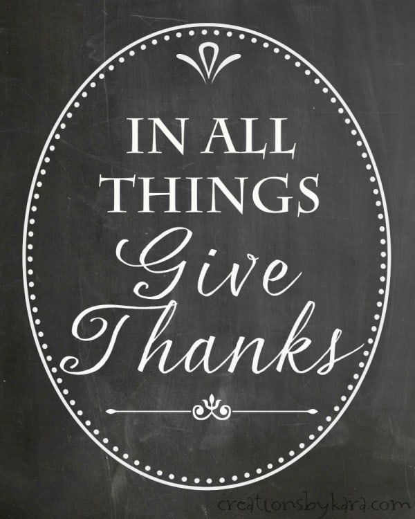 Give Thanks Free Chalkboard Printable