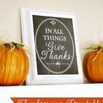 Free Printable- Chalkboard Give Thanks