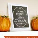 Free Printable- Chalkboard Give Thanks