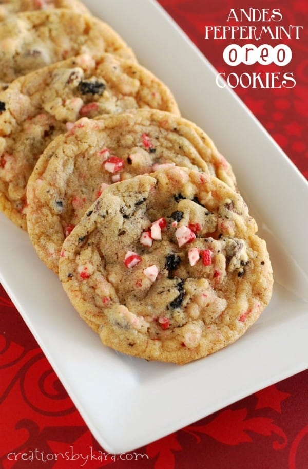These Andes Peppermint Oreo cookies are perfect for Christmas!