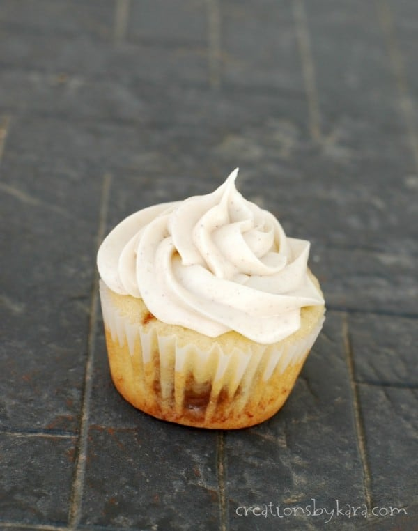 Everyone loves these cinnamon roll cupcakes!