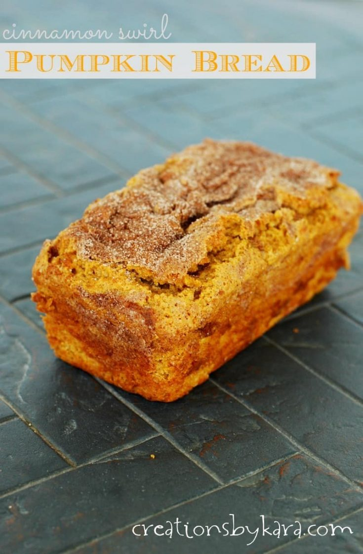Recipe for Cinnamon Swirl Pumpkin Bread