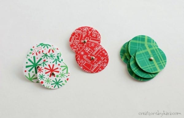 Simple paper Christmas trees