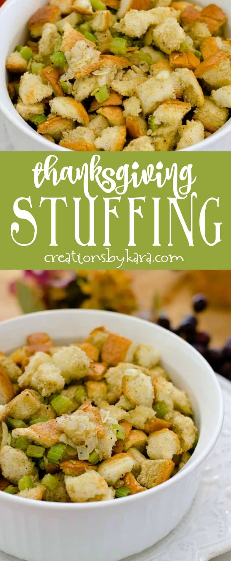 Easy Herb Stuffing Recipe - a favorite Thanksgiving recipe for years! #thanksgiving #stuffing
